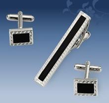 Manschettknappar och Slipsklämma i 925 Silverplätering