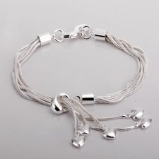"Armband ""Hearts"" i 925 Sterling Silver"