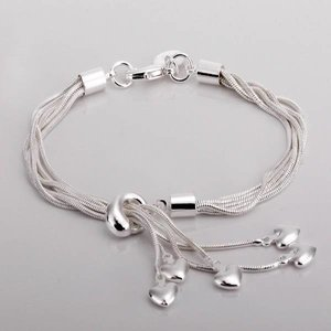 """Armband """"Hearts"""" i 925 Sterling Silver"""