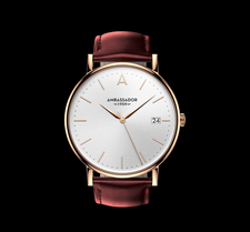 AMBASSADOR -Heritage 1959- Burgundy Leather Strap