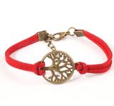 """Läderarmband """"Tree of Life"""" -Röd"""