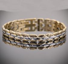 Armband i 18 K Guldplätering -7 mm bred