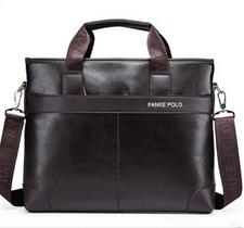 Messenger bag, 37 x 30 cm -Brun -FANKE POLO