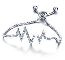 """Armband """"Heart Beat"""" med Cubic Zirconia och i 925 Sterling Silverplätering"""