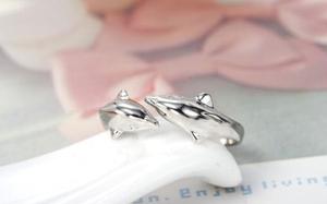 """Ring """"Dolphins"""" i 925 Sterling Silverplätering"""