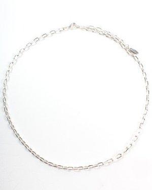 Pilgrim - Halsband med Berlock av Grön Sten, Silverbelagd Halskedja