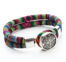"""Armband """"Tibetan"""" i bomull -Mixade färger"""