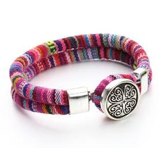 "Armband ""Tibetan"" i bomull -Röd/rosa"