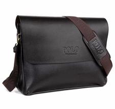 Messenger bag, 33 x 25 cm -Brun