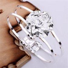 """Armband """"Silverros"""" i 925 Sterling Silverplätering"""