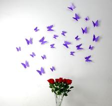 3D Fjärilsdekor -finns i flera färger!