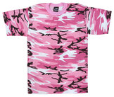 Kids T-shirt -Rosa Camo