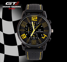 Klocka - Grand Touring GT -Gul