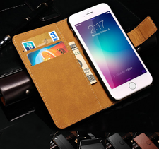 Plånboksfodral till iphone 6 och iphone 6 plus i äkta läder