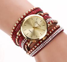 Klocka - Geneve -Röd