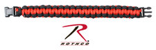 Armband Paracord -Svart/röd