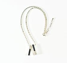 Halsbandmed dubbla hängen-Unisex