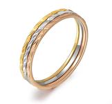 """Ring """"Trippel Color"""" med tre färger 18K Guldplätering"""