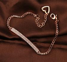Armband med dubbla längder av kristaller och i 18K Guldplätering