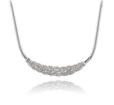 Halsband med många små stenar i Cubic Zirconia och Platinumplätering