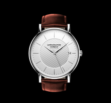AMBASSADOR -Heritage 1921- Brown Leather Strap