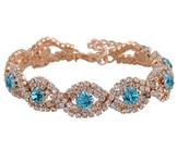 Armband med Cubic Zirconia och Austrian Crystals samt i 18 K Guldplätering -Blå stenar