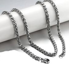Halskedja i rostfritt stål 3 mm resp 4 mm -längd 45 cm resp 50 cm