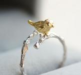 """Ring """"Bird"""" i 925 Sterling Silverplätering"""