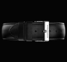 AMBASSADOR -Black Leather / Silver 20mm Strap