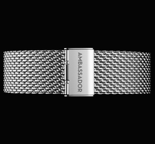 AMBASSADOR -Silver Mesh 20mm Strap