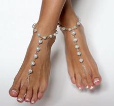 "Ankelkedja ""Pearls in Chain"" i rostfritt stål"