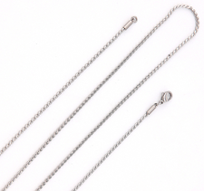 Halskedja i rostfritt stål 1,8 mm -längd 80 cm