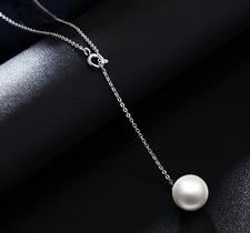 """Halsband """"Lonely Pearl"""" med kedja i  925 Sterling Silverplätering"""