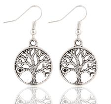 """Örhängen """"Lifes tree"""" i 925 Silverplätering"""