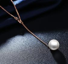 """Halsband """"Lonely Pearl"""" med kedja i  18 K Guldplätering"""
