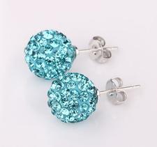 Shamballainspirerade Örhängen -Turkosa kristaller