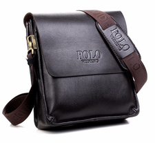 Messenger bag, 23 x 26 cm -Brun