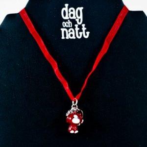 Dag och Natt - Barnhalsband -Röd