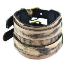 Brun-Beige Läderarmband