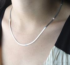 Halskedja i 925 Sterling Silverplätering -45 cm