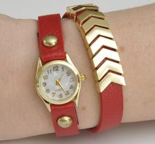 Klocka - Arrow -Röd