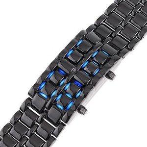 Lava - Damklocka Digital Blå LED