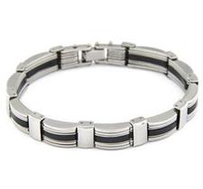 Armband i rostfritt stål och gummi