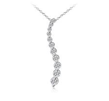 Halsband med en länga av många små stenar i Cubic Zirconia och Platinumplätering