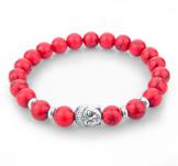 "Armband ""Buddha"" -Röd"