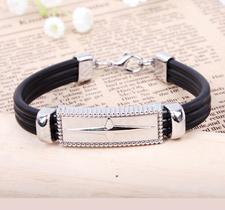 Armband i rostfritt stål och Silikon