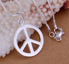 """Halsband """"Peace"""" med 925 Silverplätering"""