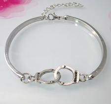 "Armband ""Handcuff"" i 925 Sterling Silverplätering"