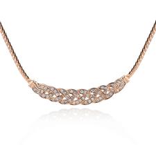 Halsband med många små stenar i Cubic Zirconia och i 18 K Guldplätering