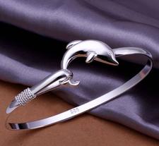 """Armband """"Silver Dolphin"""" i 925 Sterling Sillverplätering"""